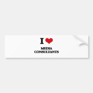 I Love Media Consultants Car Bumper Sticker