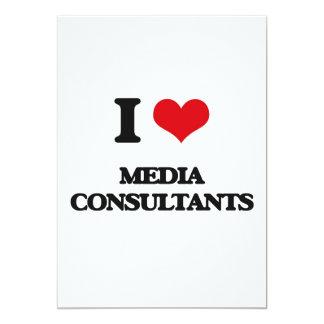 "I Love Media Consultants 5"" X 7"" Invitation Card"