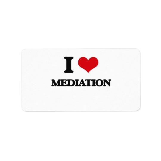 I Love Mediation Address Label