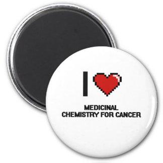 I Love Medicinal Chemistry For Cancer Digital Desi 6 Cm Round Magnet