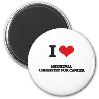 I Love Medicinal Chemistry For Cancer 6 Cm Round Magnet