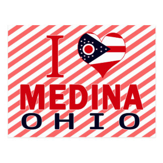 I love Medina, Ohio Postcard