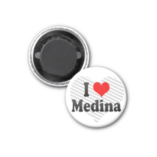 I Love Medina, Saudi Arabia 3 Cm Round Magnet