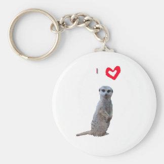 I love Meerkats Key Ring