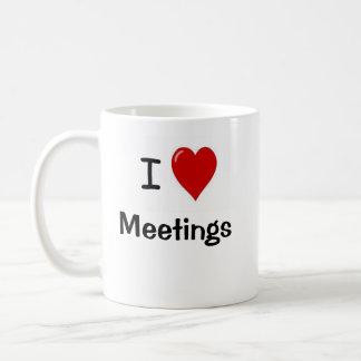 I Love Meetings - I Heart Meetings Basic White Mug