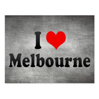 I Love Melbourne, Australia Postcard