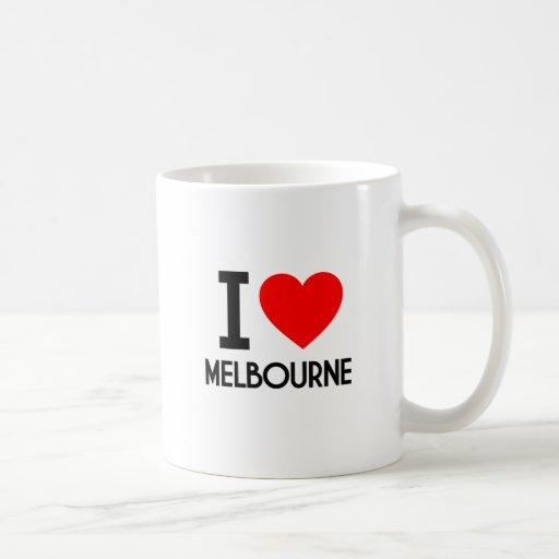 I Love Melbourne Mugs