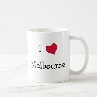 I Love Melbourne Basic White Mug