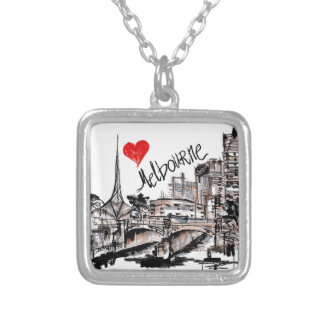 I love Melbourne Silver Plated Necklace