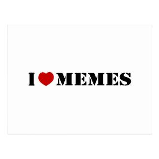 I Love Memes Postcard