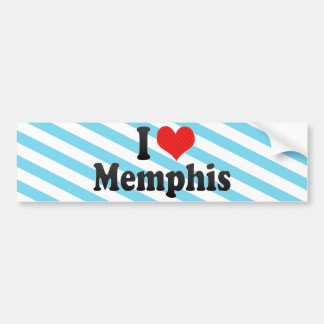 I Love Memphis Bumper Sticker