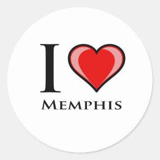 I Love Memphis Classic Round Sticker
