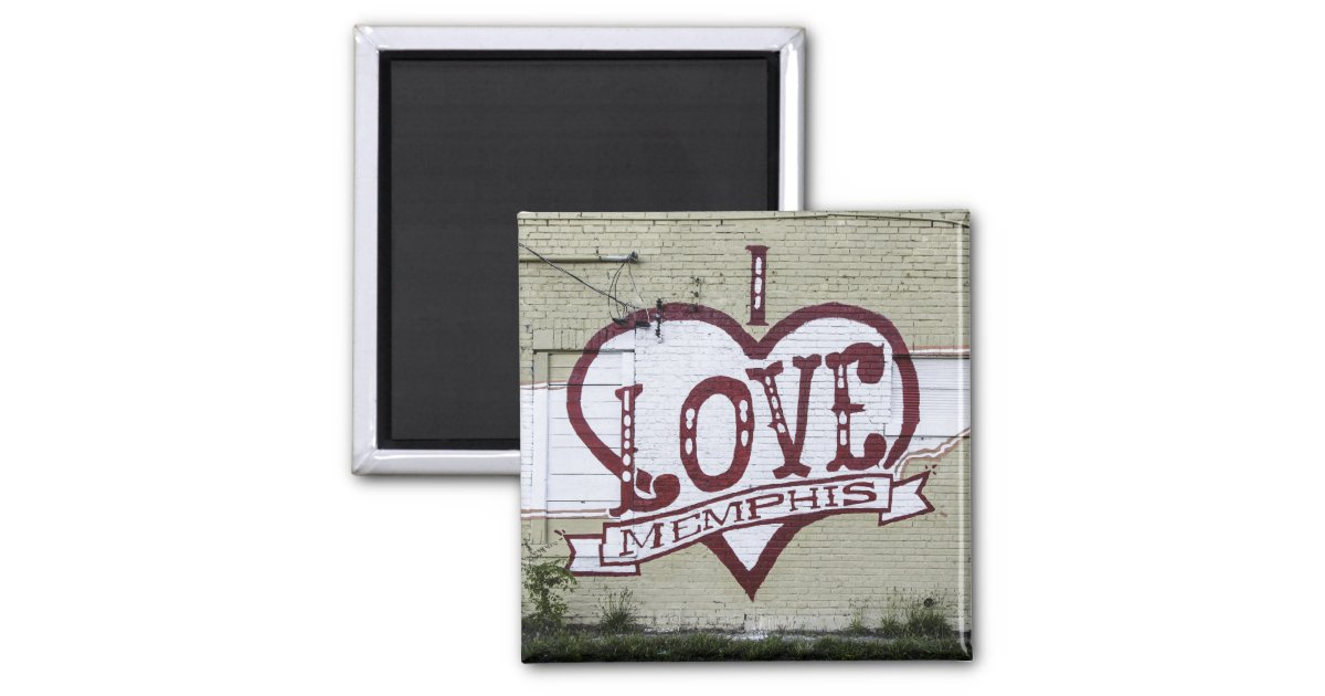 i love memphis graffiti magnet zazzle. Black Bedroom Furniture Sets. Home Design Ideas