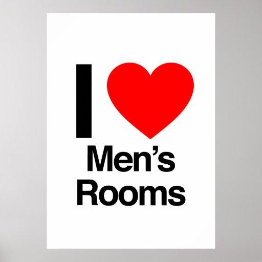 i love men's rooms print