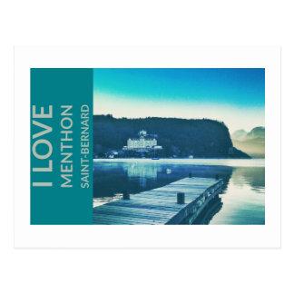 """I Love Menthon Saint Bernard"" Postcard"
