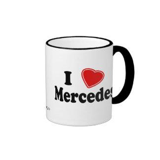 I Love Mercedes Coffee Mugs