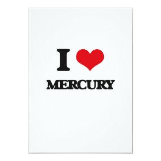 "I Love Mercury 5"" X 7"" Invitation Card"
