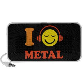 I love metal music smiley with headphones speakers
