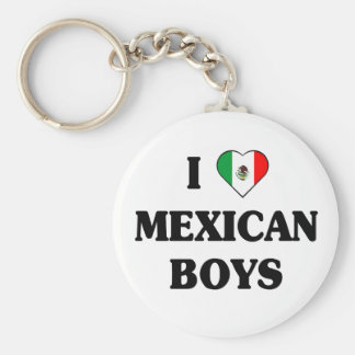 I love Mexican Boys Basic Round Button Key Ring