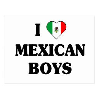 I love Mexican Boys Postcard