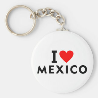 I love Mexico country like heart travel tourism Key Ring