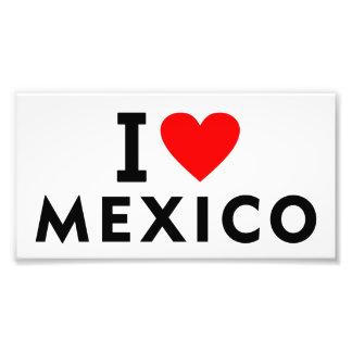 I love Mexico country like heart travel tourism Photo Print