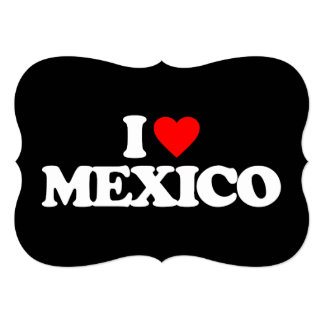 I LOVE MEXICO 13 CM X 18 CM INVITATION CARD