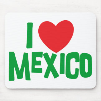 I Love Mexico Mouse Mat