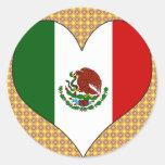 I Love Mexico Round Sticker