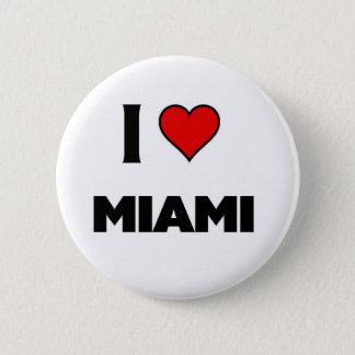 I love Miami 6 Cm Round Badge