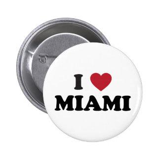 I Love Miami Florida 6 Cm Round Badge