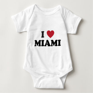 I Love Miami Florida Baby Bodysuit