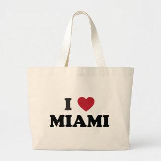 I Love Miami Florida Large Tote Bag