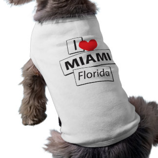 I Love Miami Florida Sleeveless Dog Shirt