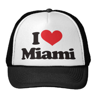 I Love Miami Mesh Hats