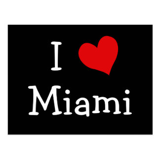 I Love Miami Postcard