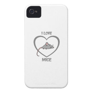 I Love Mice iPhone 4 Case-Mate Case