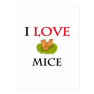 I Love Mice Postcard