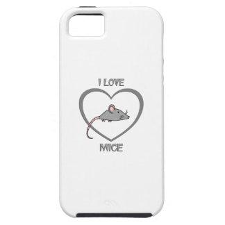 I Love Mice Tough iPhone 5 Case