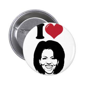 I Love Michelle Obama 6 Cm Round Badge