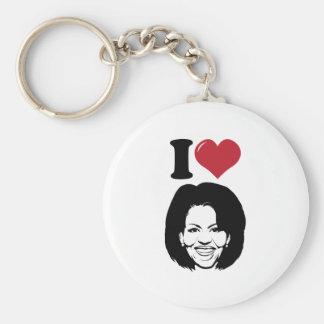 I Love Michelle Obama Basic Round Button Key Ring