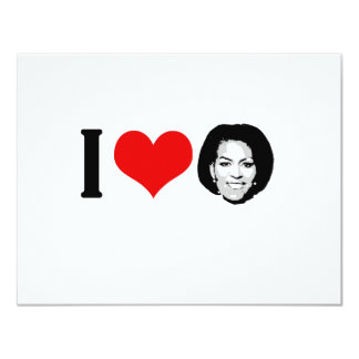 I Love Michelle red plain 11 Cm X 14 Cm Invitation Card