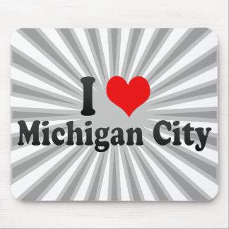 I Love Michigan City, United States Mouse Pad