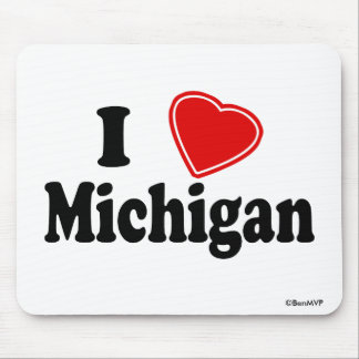 I Love Michigan Mouse Pad