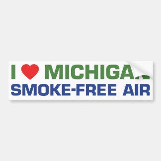 I love Michigan Smoke-Free Air Bumper Stickers