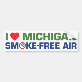 I love Michigan Smoke-Free Air Bumper Sticker