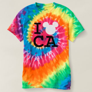 I Love Mickey | California Disneyland Tie-Dye T-Shirt