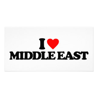 I LOVE MIDDLE EAST PHOTO CARD