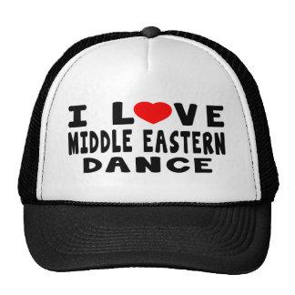 I Love Middle eastern Dance Mesh Hat