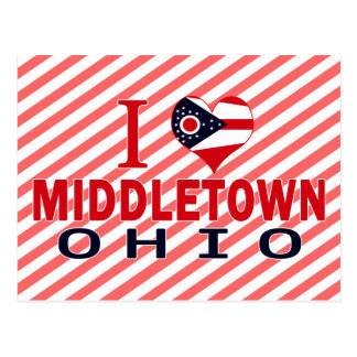 I love Middletown, Ohio Postcard
